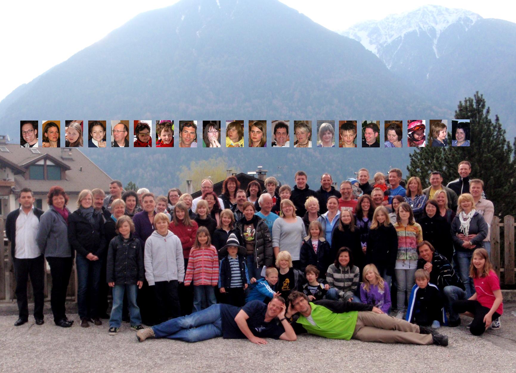 Gruppenbild Familienskifreizeit 2010