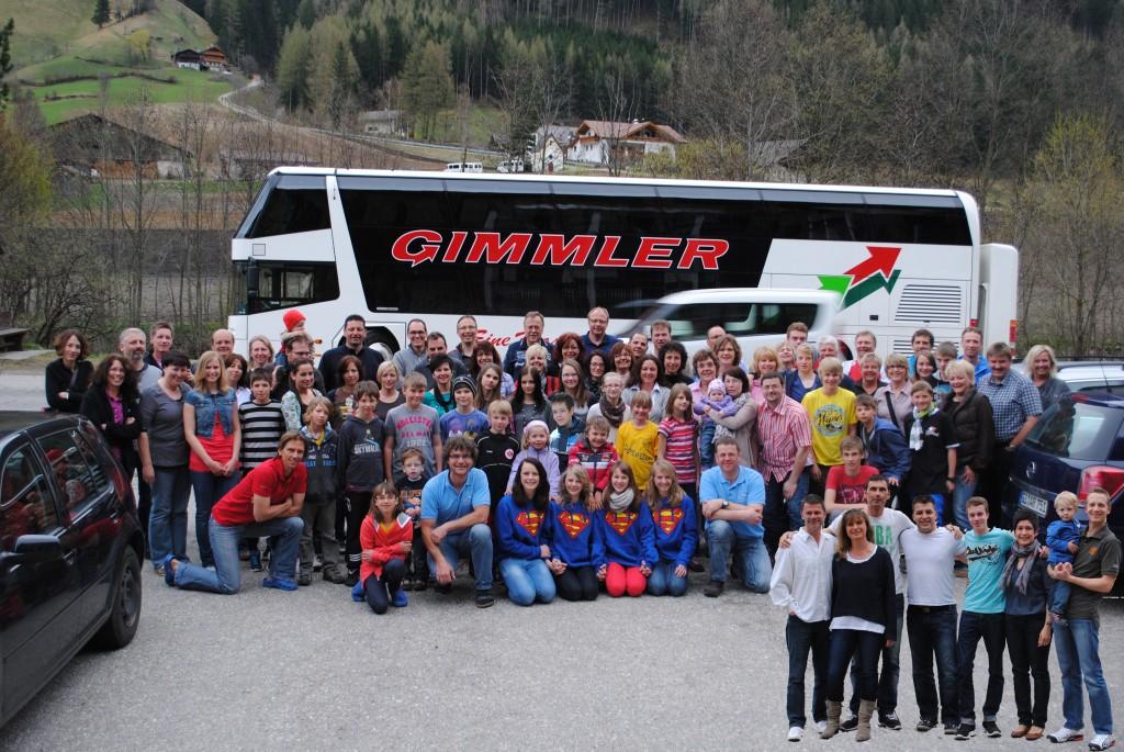 Gruppenbild Familienfreizeit 2012